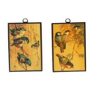 Vintage Wall Art - Vintage Harry Rountree 70's Laquered Wall Hangings